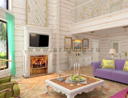 дизайн комнаты отдыха в коттедже