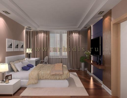 АрхиДис | дизайн спальни в современном стиле