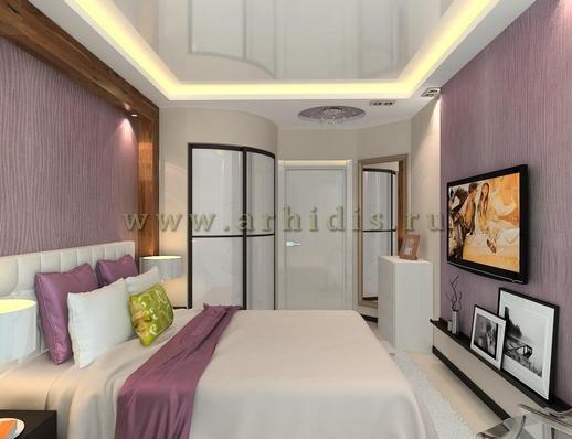 АрхиДис | дизайн спальни с деревом