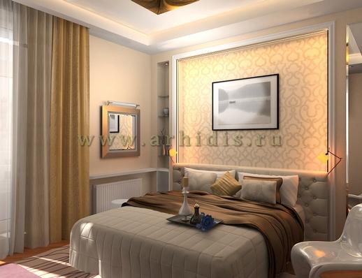АрхиДис | дизайн спальни в кофейных тонах